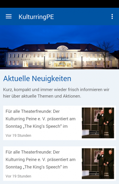 Kulturring Peine App Screenshot